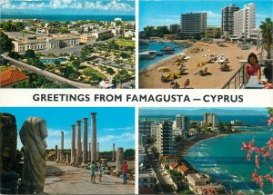 Postcard Cyprus greetings from Famagusta several aspects