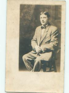 Old rppc MAN - MEN - MALE Possible Gay Interest Postcard AB1764