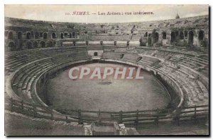 Old Postcard Nimes Arenes The inside view