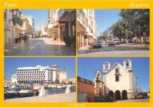 Portugal Faro Algarve Harbour Boats Church Eglise Voitures Cars