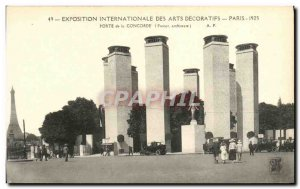 Postcard Ancient Arts Decoratifs Paris International Exhibition in 1925 Porte...