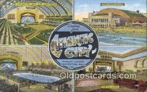 Atlantic City USA Large Letter Town Unused close to perfect corners