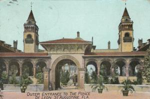 ST. AUGUSTINE, Florida, PU-1900-09; Outer Entrance to The Ponce de Leon