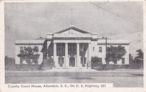 ALLENDALE , South Carolina, 1930s ; Court house