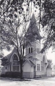 Illinois Genoa Methodist Church 1956 Real Photo RPPC