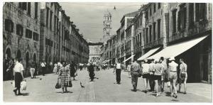 Dubrovnik Stradun RP PPC Panoramic Animated Street Scene C 1950's