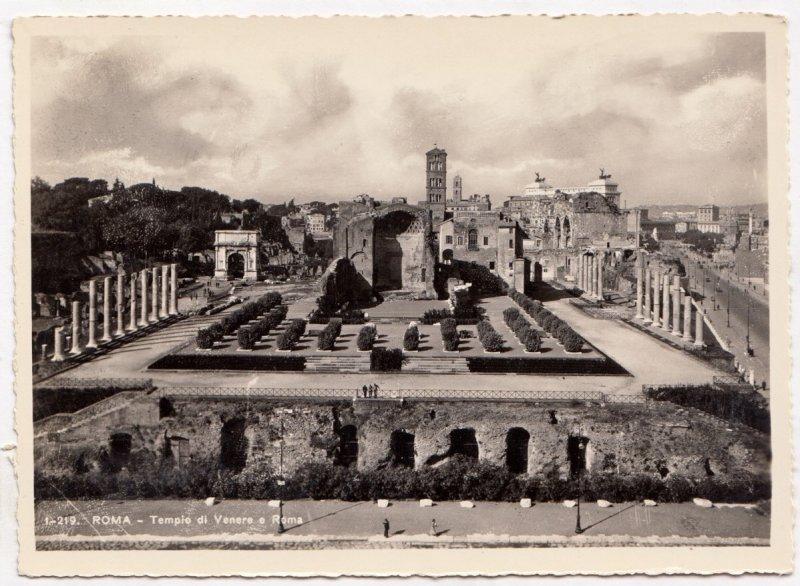 ROMA, Tempio di Venere e Roma, unused Vera Fotografia, Postcard