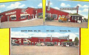 Sylvania GA Smith Bros. Oil 301 Cafe Restaurant Gas Station Trucks Linen PC