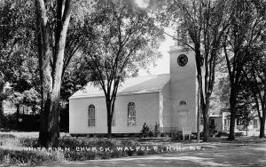 Walpole New Hampshire~Unitarian Church~1950s Postcard RPPC