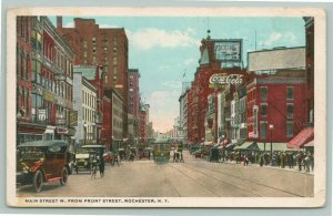 Rochester NY~Main Street~Sign Makers~Calvin Dentists Tooth~Trolley~Police~1918