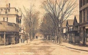 Hyde Park MA Gordon Ave, Storefronts Horse & Wagon RPPC Postcard
