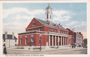 Massachusetts Plymouth Post Office And Custom House
