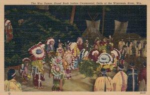 War Dance, Stand Rock Indian Ceremonial , Dells of Wisconsin , 1930-40s