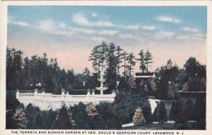 The Terrace And Sunken Garden At Geo. Gould´s Georgian Court, Lakewood, New ...