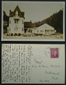 Hotel de la Montagne Routhierville Matapedia RPPC1950s