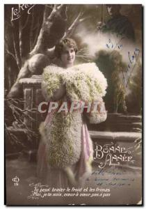 Old Postcard Fantaisie Fur Army Soldier