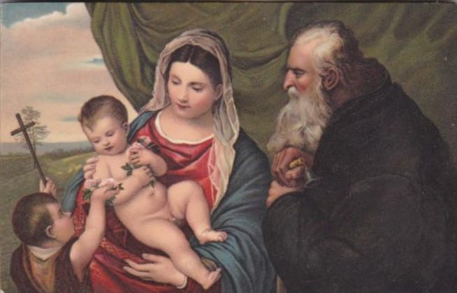 The Virgin and Child With St John and St Anthony Titian Gallery Uffici Florence