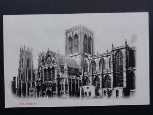 Yorkshire YORK MINSTER c1904 Postcard
