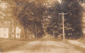 South Easton Massachusetts~Dirt Residential St Heads Downtown~Postcard RPPC 1908