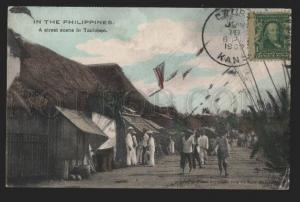 116913 PHILIPPINES Street scene TACLOBEN Tacloban City Old PC