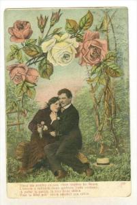 Roses Arch, Couple In Love Sitting Down, 1900-1910s