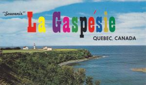 Scenic View of the Lighthouse, Souvenir La Gaspesie, Gaspe Nord, Quebec, Ca...