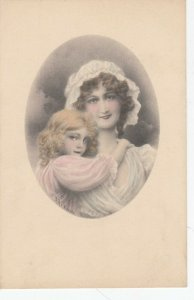 AS: Mother and strawberry blonde daughter, Bonnet, 1900-10s