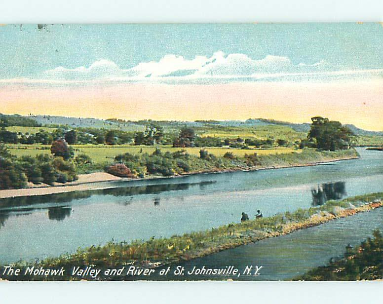 Divided-Back MOHAWK VALLEY & RIVER St. Saint Johnsville New York NY t6338