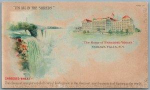 NIAGARA FALLS NY HOME OF SHREDDED WHEAT 1907 ANTIQUE POSTCARD w/ CORK CANCEL