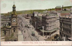 Dundedin City NZ From the Bank of New Zealand Muir & Moodie c1907 Postcard E33