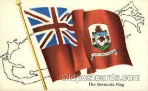 Bermuda Flag, Flags, Postcard Post Card Unused