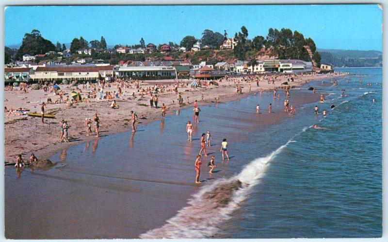 Capitola California Ca Beach Scene Santa Cruz County Postcard