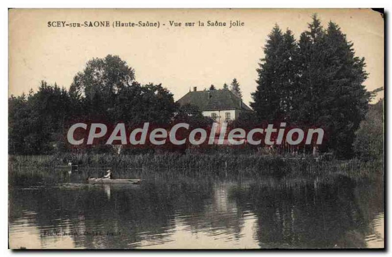 Old Postcard Scey sur Saone Haute Saone View the beautiful Saone