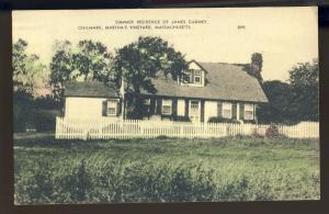 Martha's Vineyard, MA/Mass Postcard, Summer Home Of James Cagny, Cape Cod