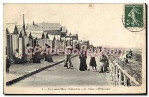 Postcard Old Luc sur Mer Calvados La Digue Promenoir