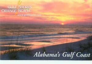 Gulf Shores Orange Beach Alabama Gulf Coast Sunset Beach  Postcard  # 8726