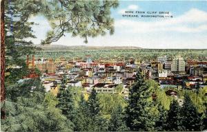 WA, Spokane, Washington, City View, Seen from Cliff Drive, E.C. Kropp