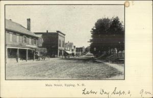 Epping NH Main St. c1905 Postcard