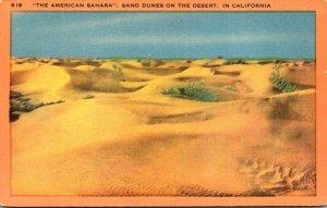 California Sand Dunes On The Sahara The American Sahara