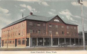 Elma Washington~Hotel Wakefield~Man Sitting in Front~Vintage Car in Street~c1910