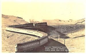 San Luis Obispo CA Luxury Daylight Railroad Train RPPC Postcard