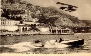 Monaco - Monte Carlo. Hydroplane Racing A Boat (Pre-1920 Aviation)