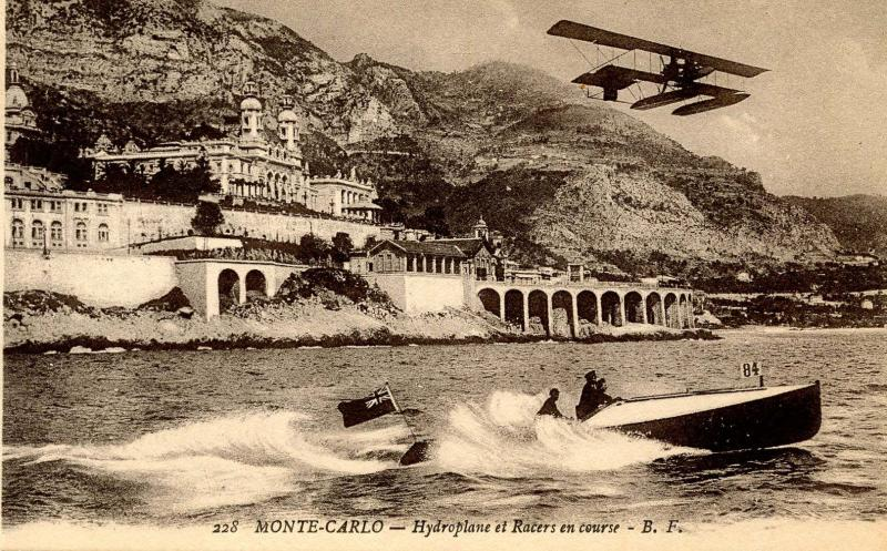 Monaco - Monte Carlo. Hydroplane Racing A Boat (Pre-1920 Aviation)