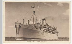 Shipping; Orient Line SS Orion Official PPC, 1938 Grays PMK