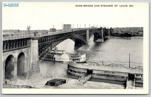 St Louis MO~Diamond Joe Line & Spread Eagle Steamers~Kepner Authorized~c1920 PC
