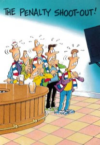 The Penalty Shootout Football Viz Sid The Sexist Style Comic Postcard
