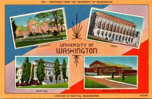 Washimgton Seattle Greetings From The University Of Washington With Multi Views
