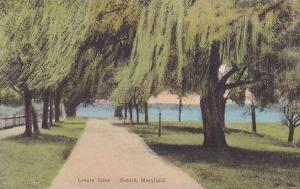 Maryland Oxford Lovers Lane Handcolored Albertype