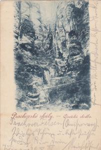 Prachovske skaly.-Cisarska chodba , Czech Republic , PU-1903