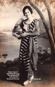 Philippines 1930 Manila Carnival Miss Luzon Real Photo Vintage Postcard JJ658687
